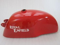 New Royal Enfield Cafe Racer Bright Red Painted Petrol Tank(Reproduction)