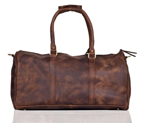 Buffalo Leather Brown Adimani Leather Travel Luggage Bag, Size/Dimension: 20 Inches 22 Inches, For Unisex