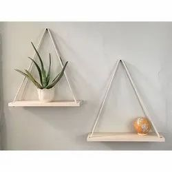 Solid Pine Wood Hanging Shelves for Storage, Size: 2/2.5/3 Fts