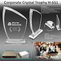 Corporate Crystal Trophy H-651