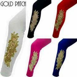 Golden Patch Leggings