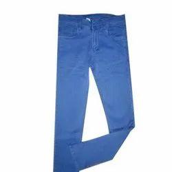 Men Plain Blue Jeans