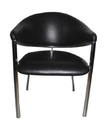 Metal And Foam Black Cafe Chair
