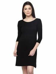 Dresses Casual Wear Black Flared Dress