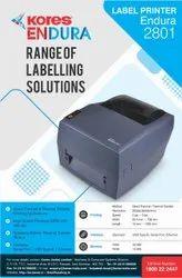 Kores Barcode Label Printer, Resolution: 203 DPI (8 dots/mm), Model Name/Number: Enduar 2801