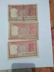 Indian 2 Rupees Rare Note