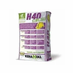 Powder White Kerakoll H40 No Limits Adhesive, Packaging Size: 25 kg, Packaging Type: Bag