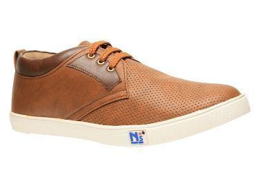 07e95ed56d16cc Leather North Star Brown Casual Shoes For Men F821423200, Size: 7 8 9 10