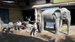 FRP Elephant Statute
