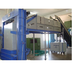 Spinning Waste Baling Press