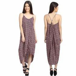 Printed Ladies One Piece Dress
