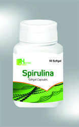 Spirulina Softgel Capsule, Packaging: 60