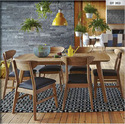 Modern Wooden Dining Table & Chairs Dtc-003 For Home