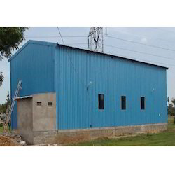 Blue Factory Shed
