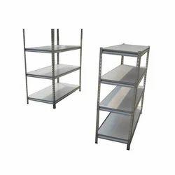 3 Feet Grey MS Shoe Rack, 4 Shelves