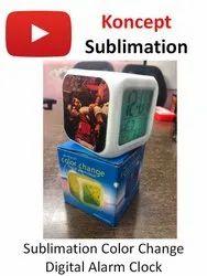 Sublimation Color Change Digital Alarm Clock