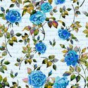 Digital Printed Floral Design  crape Fabric