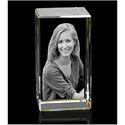 Transparent 3D Crystal Cube Size 5x5x8 cm