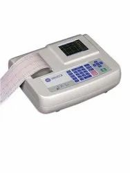 RMS ECG MACHINE, Number Of Channels: 3 Channels