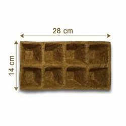 Coir Garden Biodegradable Seedling Tray, Pro Tray Seed Germination Tray With 8 Cavity