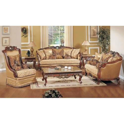 Brown antique sofa set rs 36000 set a n enterprises - Antique living room furniture sets ...