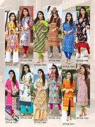 Cotton Straight Megha Vol 4 Designer Kurtis