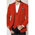 Men's Suit Tuxedo Style Blazer, Trouser, Shirt & Bow Tie