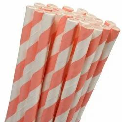 Printed Paper Wrapped Straw