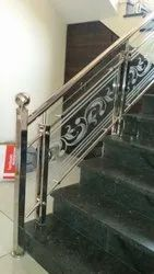 304greade. Jindal Pipes Toughened Ss Designer Staircase Railing