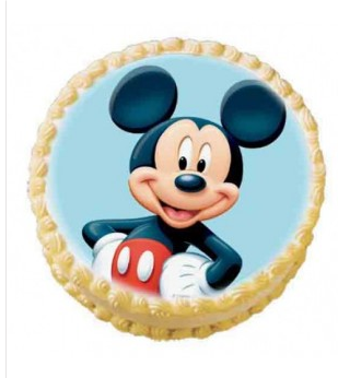 Terrific Mickey Mouse Photo Cake 2 Kg M S India Gifts Hub Funny Birthday Cards Online Alyptdamsfinfo