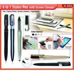 4 In 1 Stylus Pen With Screen Cleaner H-353