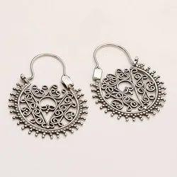Sterling Silver 925 Filigree Work Bali Earring