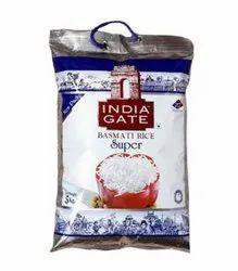 Silver Inda Gate Super Basmati Rice, Jute Bag, Punjab