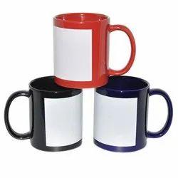 Sublimation White Patch Mugs