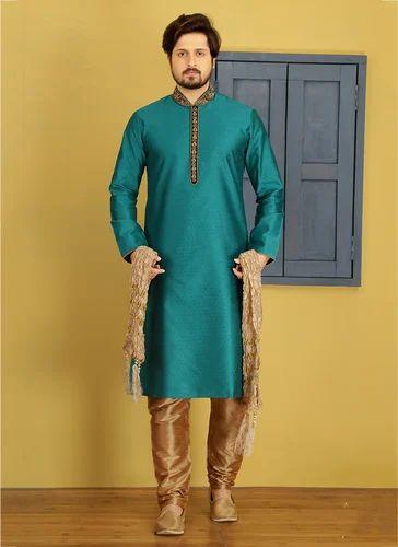 61271c4a5f Banarasi And Art Silk Long Kurta Pajama For Men, Rs 1865 /piece | ID ...