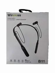 Mobile Black Bluetooth Earphone, Model Name/Number: B11