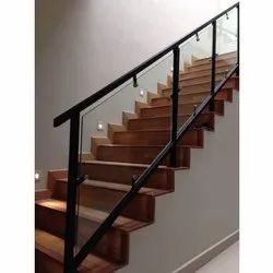 Panel Stairs MS Glass Railing