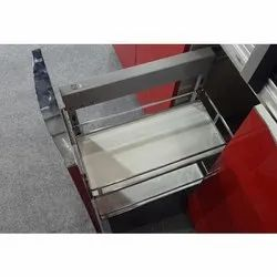 Excellenza Stainless Steel Pull Out Cabinet, For Kitchen