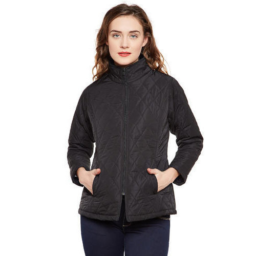 4d5636277ef85 MARTINI Polyester Black Quilted High Neck Women Winter Jacket