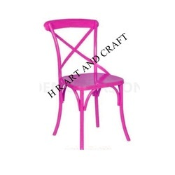 Pink Metal Chair for Restaurant