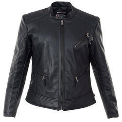 black women leather jacket