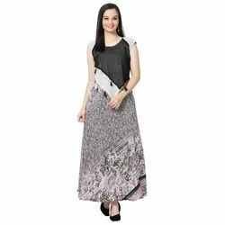 LKAAAF-27 Printed Round Neck Ladies Kurti
