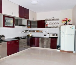 Wooden Italian Modular Kitchen, Warranty: 15-20 Years, Pune & Mumbai