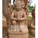 Brown Sandstone Harihar Bahan Statue For Promotional Use