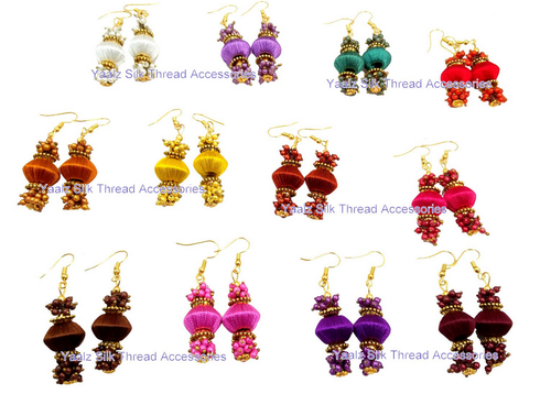 90401e68ccb Yaalz Simple Bead Pearl Earrings Combo In 12 Assorted Colors