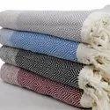 Cotton Yarn Dyed Fouta Turkish Fouta Terry Beach Throws