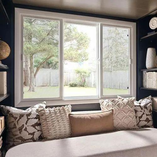 White Living Room Upvc Sliding Window