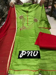 Chanderi Formal Wear Ladies Salwar Suits