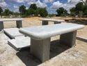 Archana Grey Granite Bench, Size: 600x1500mm Top