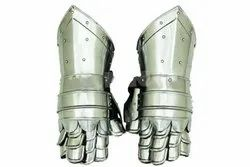 Designer Arm Gloves Greek Steel Armour with Leather
